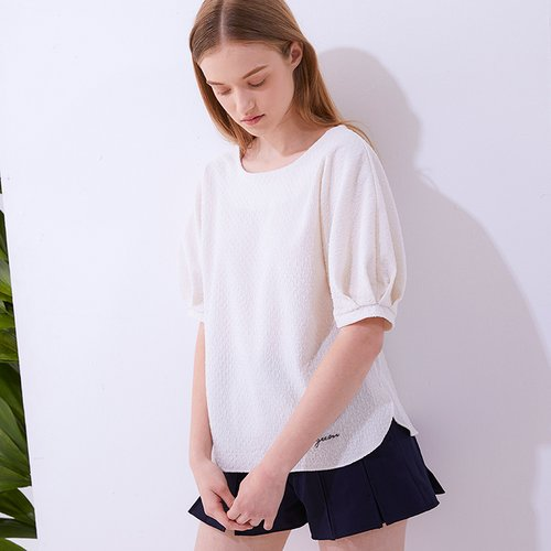 [25%할인가]Double Faced Ripple Blouse_IVORY