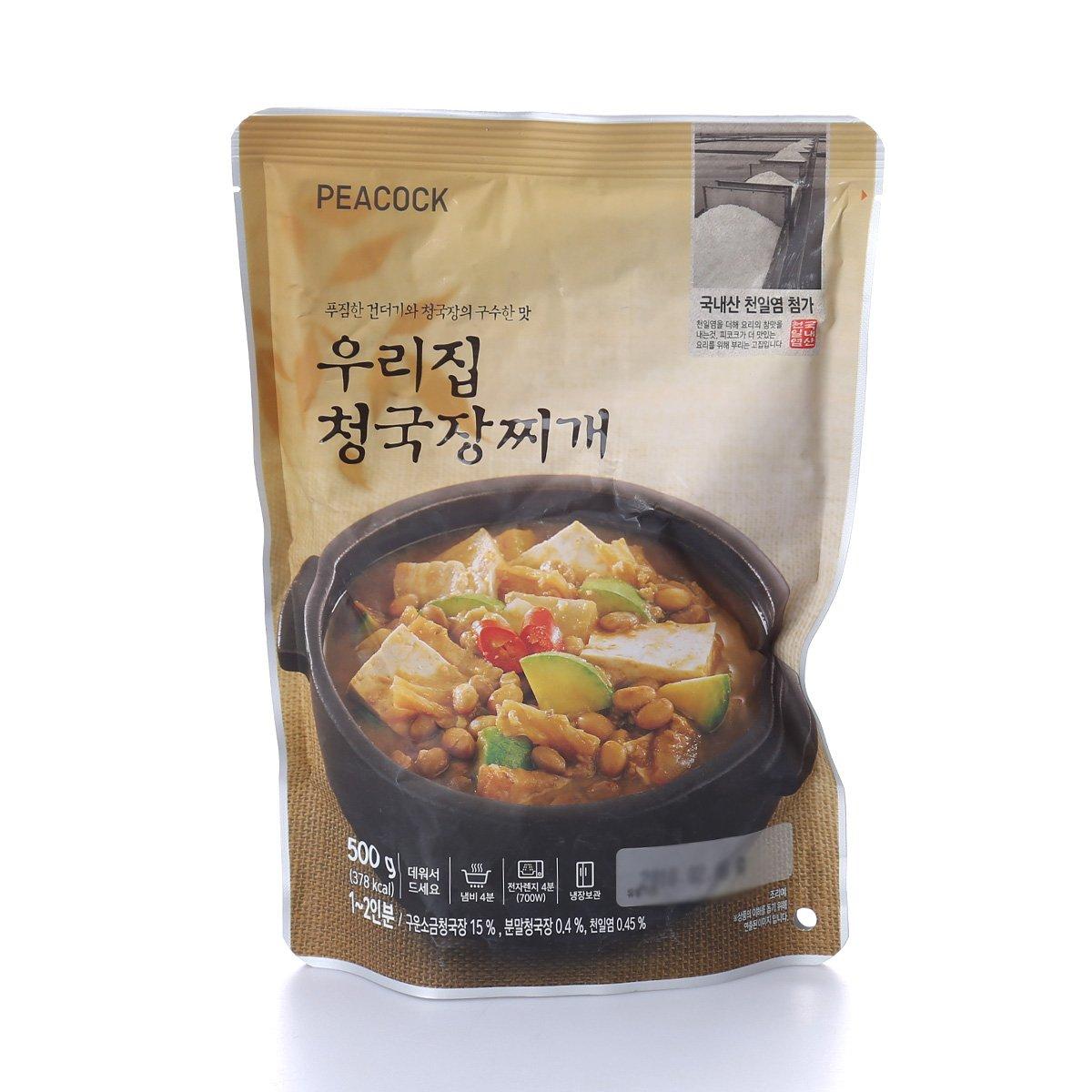 [피코크] 우리집 청국장찌개 500g