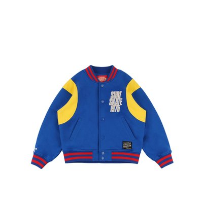 [10% SALE] Skate 1975 color block baseball jacket
