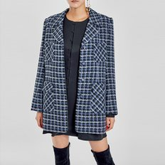 / favorite medium-length tweed jacket