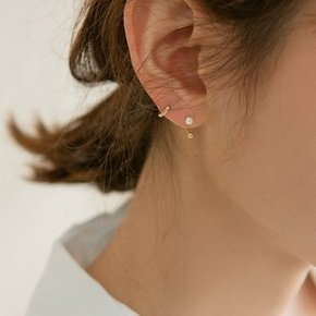 14k gold U hook pearl piercing (14K 골드)