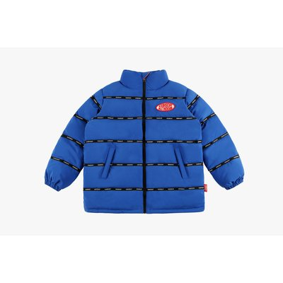 [50% SALE] Icebiscuit logo tape puffy down jacket