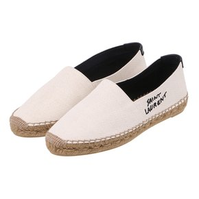 (면세판매가364,000원)[SAINT LAURENT]ESPADRILLE CANV PL/M P SL SIGN/605956-1P210-9380