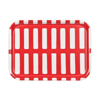 SIENA SMALL TRAY White/Red