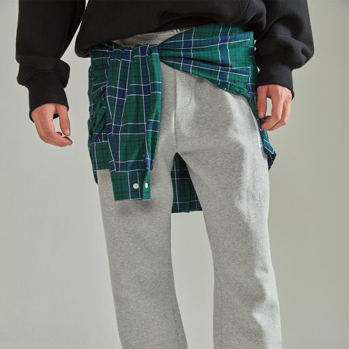 [NOHANT] LAYERED SHIRT JOGGER PANTS GRAY