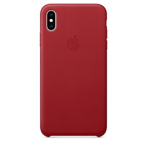 [APPLE] iPhone XS Max 가죽 케이스 - (PRODUCT)RED (MRWQ2FE/A)