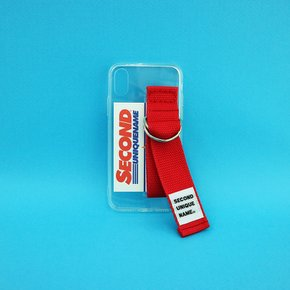 SUN CASE CLEAR RED (CARD) (JELLY CASE)