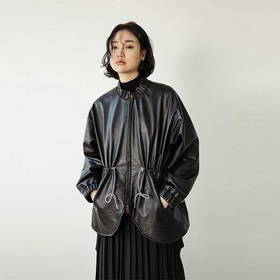 LAMB SKIN MA-1 JACKET [BLACK] (2070746)