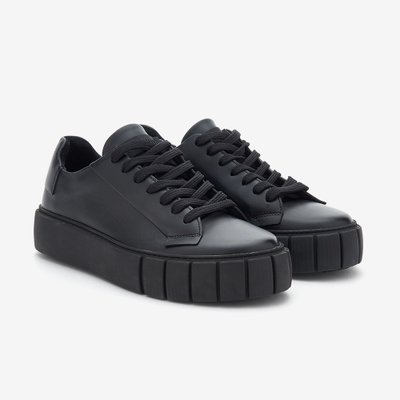 PRIMURY 프라이머리 NAPPA LEATHER DYO SNEAKERS BLACK UF500617MTA
