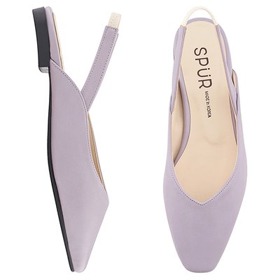 슬링백 MS9073 Slim square sling back 라벤더