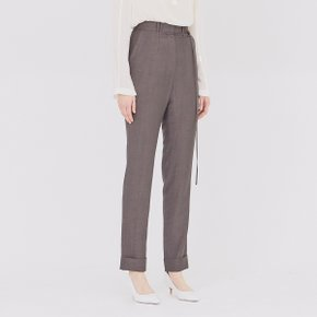 [가브리엘리] 19SS STRAIGHT-FIT CUFFED TROUSERS - DARK BROWN