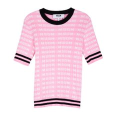 공식[MSGM] W_All Over MSGM Sport Ribbed Knit(PINK)