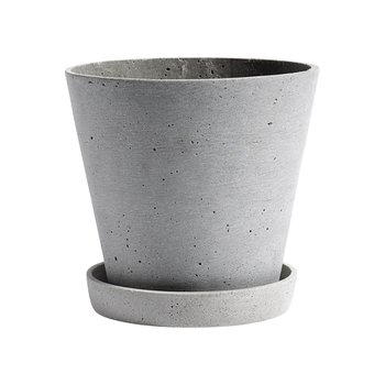 [주문 후 3개월 소요] Flower pot With Saucer L Grey