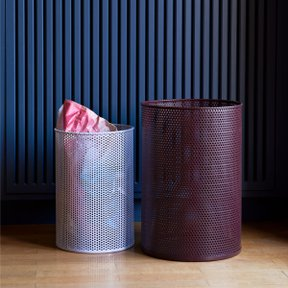 PERFORATED BIN L, BURGUNDY