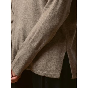 Turtleneck Loose Fit Tunic_Beige