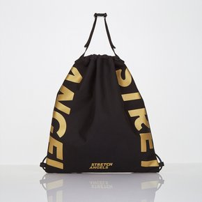 *season off*[L.P.Y] logo string easy backpack (Black)