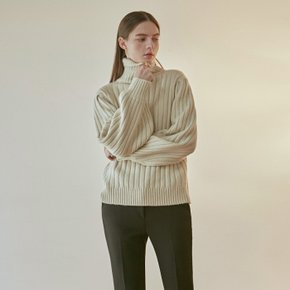 EVENING TURTLE SWEATER_LIGHT BEIGE (4313810)