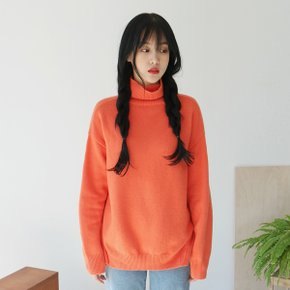 Line point turtleneck knit/니트