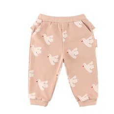 Multi dove baby ruffle sweat pants