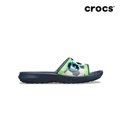 크록스공식 아동 CROCSFL SPORTS FAN SLIDE K NAVY (19SKSS205524)