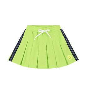Tennis smile pleated jersey mini skirt