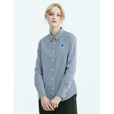 [Special Off 30%] [LIME BEANPOLE] 네이비 베이직 스트라이프 셔츠 (BF8264N01R)