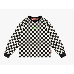 Icebiscuit checkerboard long sleeve tee
