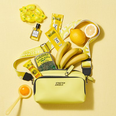 스트레치엔젤스[파니니백]PANINI metal logo solid bag(Light yellow)(SUMR01911)