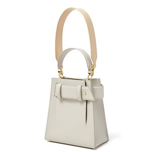 HIEMS COR 31 W.B M-TOTE BAG CREAM/DEEP BROWN(BE)