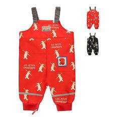 Multi polar bear baby padded ski suit / BP8406151