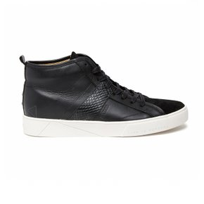 [HA.TISS] Bright Nudles Black High-Top