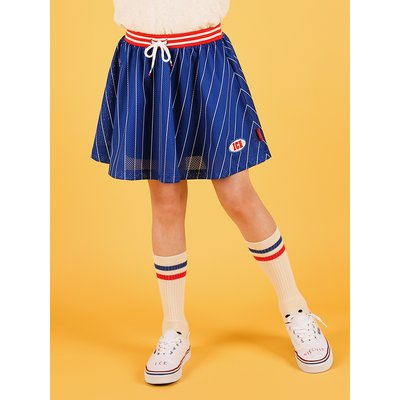 [20% SALE] Stripe mesh jersey skirt