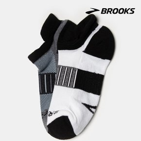 [BROOKS] Unisex Ghost Midweight Two-Pack 블랙 양말 (BX9YKTA025)
