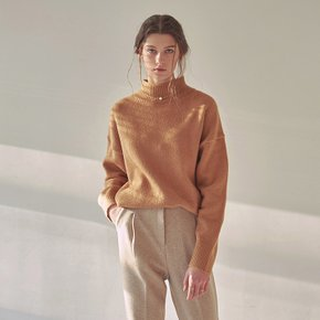 SOFT HALF NECK SWEATER_CAMEL
