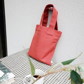 Linen Tote Bag (CORAL)