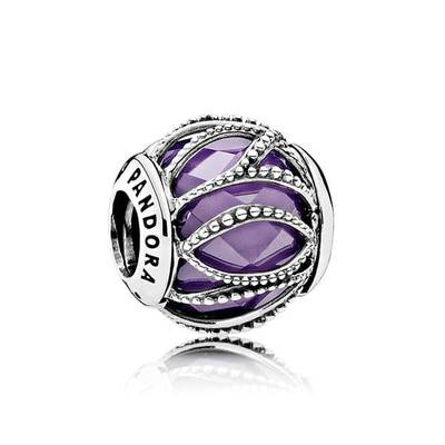 판도라 791968ACZ PANDORA Purple Intertwining Radiance Charm