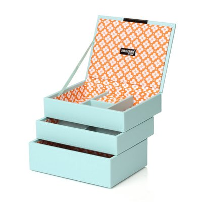 WOLF 울프 318305 Stackables Mini Set Aqua 보석함 Jewel Box