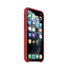 iPhone 11 Pro 실리콘 케이스 - (PRODUCT)RED(MWYH2FE/A)