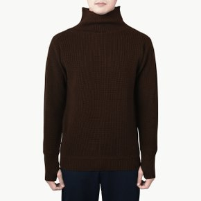 NAVY CREWNECK NATURAL BROWN
