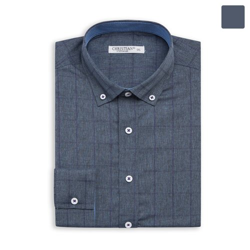 4aa52a9e917 [모니즈] 퍼플 라인 체크 셔츠 SHT388