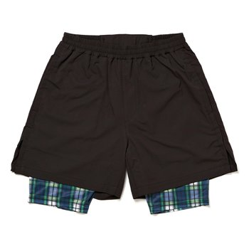 LAYERED SHORT - BLACKxGREEN CHECK