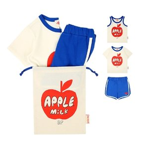 Apple milk blue lounge wear set