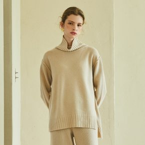 [SSG혜택가][블랭크공삼]cashmere turtle-neck pullover (light beige)