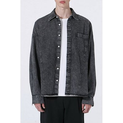 FAT-FIT denim shirt_CWSAM20261BKX