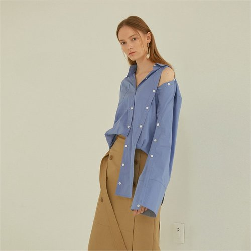 [MUSEE]Poeme asymmetry shirts _ Blue (1940996)