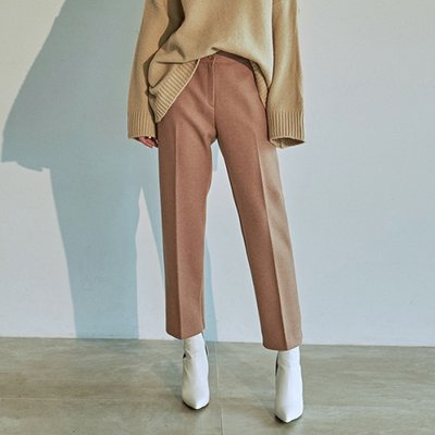 [DEANS] WOOL STRAIGHT LINE SLACKS_BEIGE