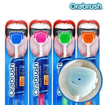 ♥[오라브러쉬]입냄새제거 혀전용 칫솔 싱글용(블루/핑크 택1)