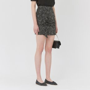 [가브리엘리] 19SS DOT PRINT CHIFFON MINI SKIRT - BLACK