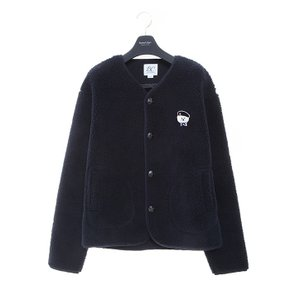ILP SIGNATURE PARIS LOGO ECO-FUR CARDIGAN NAVY (3489643)