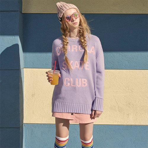 (TS-0075)ROLA CLUB KNIT LAVENDER